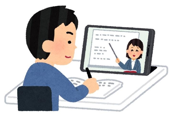 オンライン学習中の大学生